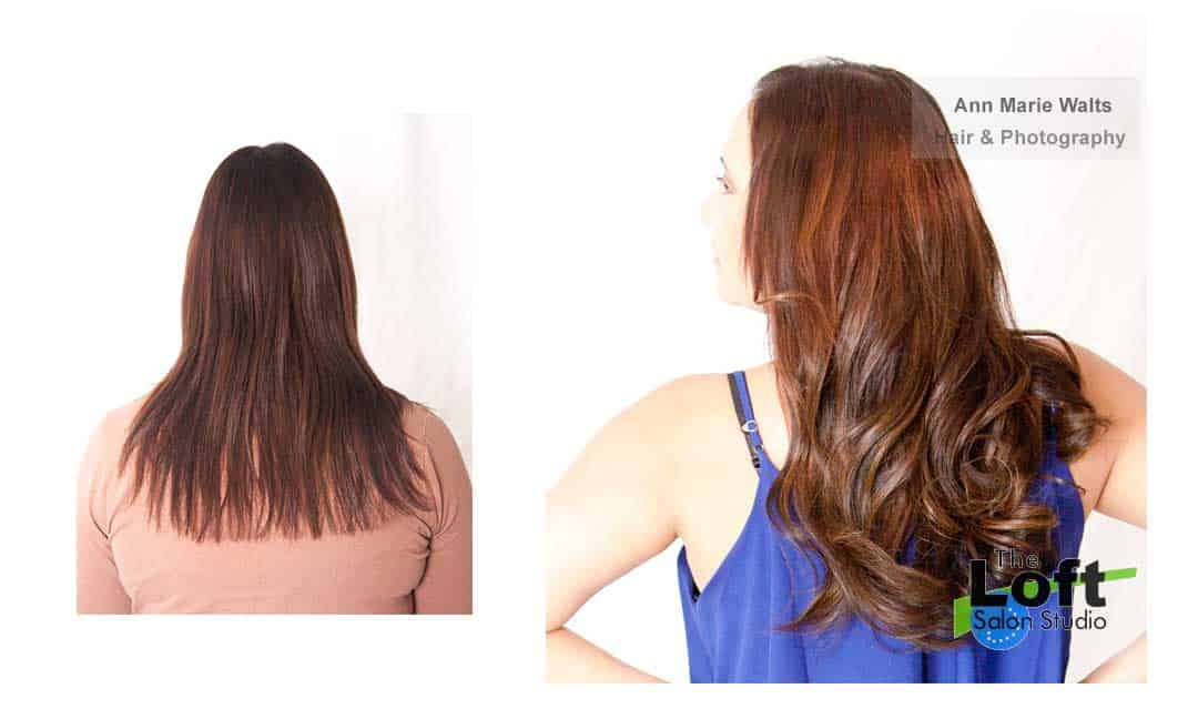 hair extension before and afters