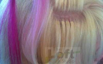 Pretty In Pink- Highlights With Hair Extensions