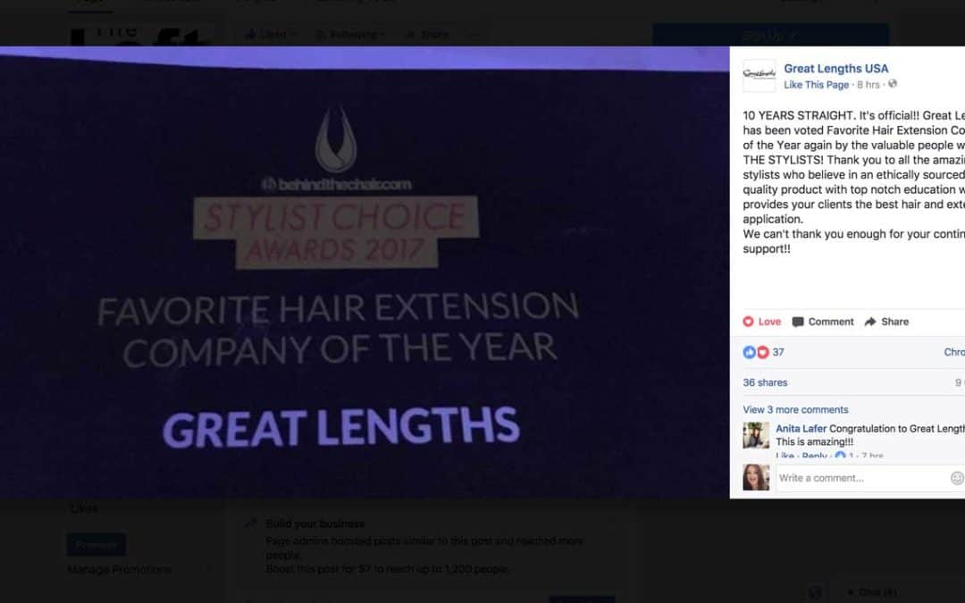 Great Lengths – Voted Favorite Hair Extension Company