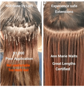 Bad Hair Extensions-Before and After